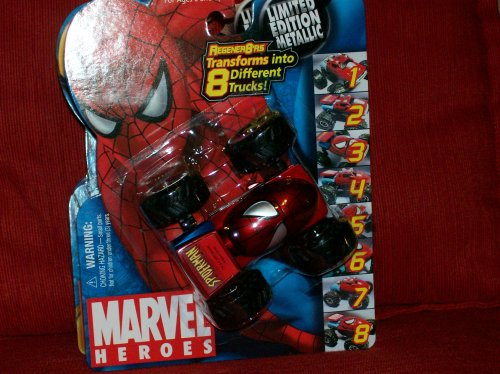 Marvel Heroes Regener8'rs Spiderman - Limited Edition Metallic - 1