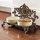Personalized Decorative Baroque Pet Feeder - J - Frontgate