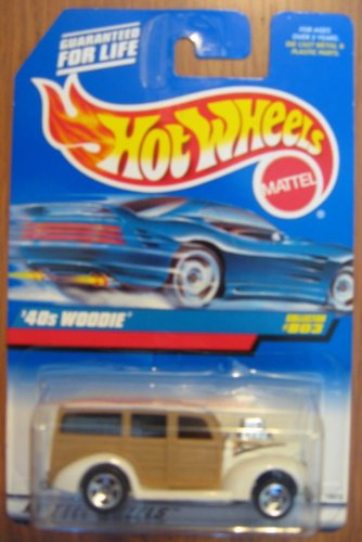 Hot Wheels '40s Woodie WHITE 1997 #803 - 1