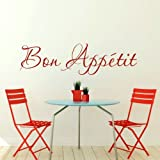 Bon Appetit Kitchen Quote Sticker / wall decor / Kitchen Quote Transfer X99