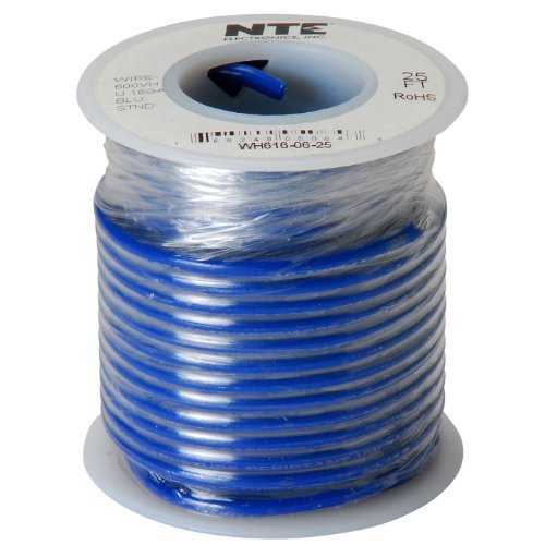 Nte Stranded 16 Awg Hook-Up Wire Blue 25 Ft.