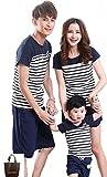 (アーバンセレクト) Urban Select 親子 ペアルック tシャツ ポロシャツ ベビー パジャマ 親子お揃い 親子ペア 親子 おそろい 服 親子服 親子ペ アtシャツ BD-02(エコバッグセット) (パパM(体重42.5-60kg), ネイビー)