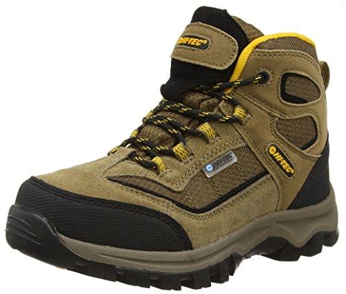 Hi-Tec Hillside Waterproof Junior - Scarpe da Arrampicata Alta Bambino, Beige (Smokey Brown/Gold 041), 35 EU