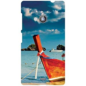 Nokia Lumia 535 Back Cover - Ships Over Water Designer Cases
