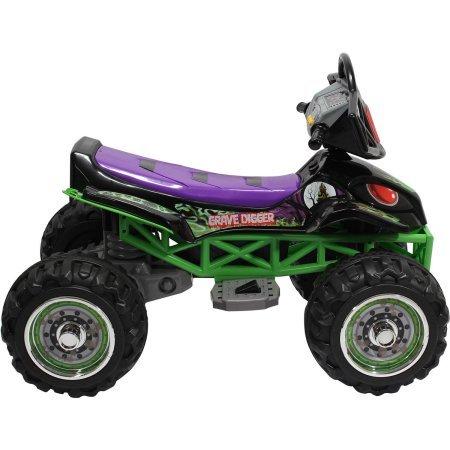 Monster Jam Grave Digger Quad 12-Volt Battery Powered Ride ...