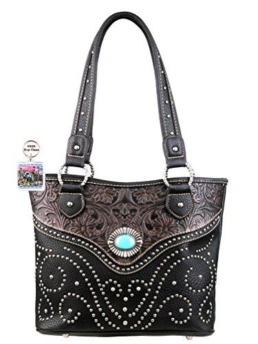 montana-west-trinity-ranch-handbag-tooled-design-plus-free-keychain-black-gray