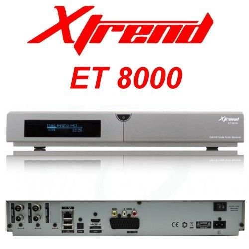 Xtrend ET 8000 HD 2x DVB-C/T2 Tuner Linux Full HD HbbTV Receiver PVR Ready