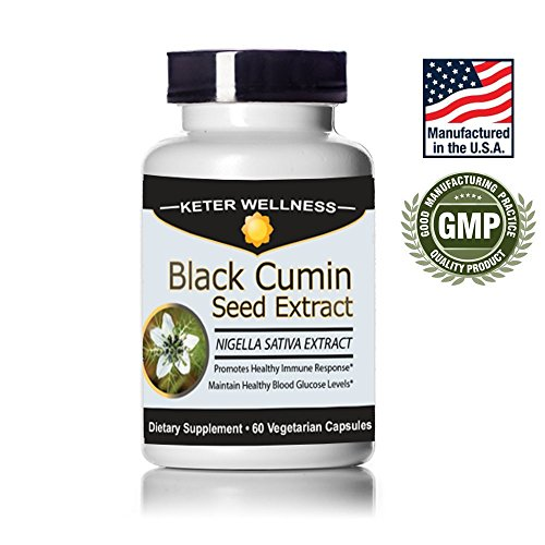 Black Seed Extract | Made in USA | Nigella Sativa Black Cumin Seed Extract | 60 Vegetarian Capsules (Black Seed Extract Capsules compare prices)