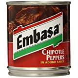Embasa Chipotle Peppers in Adobo Sauce, 7-Ounce Cans (Pack of 12)