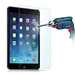 iPad Air Screen Protector, Gembonics Premium Tempered Glass Screen Protector for Apple iPad Air 1 / iPad Air 2 Crystal Clear Industry-High 9H Hardness - Maximum Screen Protection - Life Time Warranty