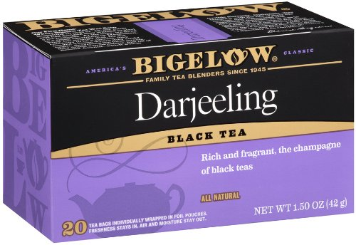 Bigelow Darjeeling Blend Tea, 20-Count Boxes (Pack of 6)