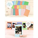 20 PCS Retro Color Instant Films Sticker For FujiFilm Instax Mini 8 7s 25 50s