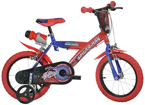 Dino Bikes 143 G-SA - Spiderman Bicicletta, 14 Pollici