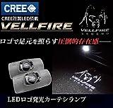 CREEチップ搭載!ヴェルファイア VELLFIRE カーテシランプ TOYOTA/トヨタ ヴェルファイア 30 系 20系 LED ロゴ発光 カーテシ ランプ 2個セット 30系 20系 ヴェルファイア プロジェクター LED ドアカーテシランプ ウェルカム ユニット交換 取付簡単 ルームランプ   (グレーVELLFIRE 1)