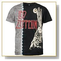 Led Zepplin - Glow In The Dark Stairway Tie Dye T-Shirt - 2X-Large