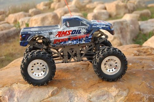 AMS OIL ~ GROUND POUNDER ~ ALUMINUM ~ 1/10 SCALE ELECTRIC RC ~ SOLID AXLE ~ MONSTER TRUCK ~ By REDCAT RACING: