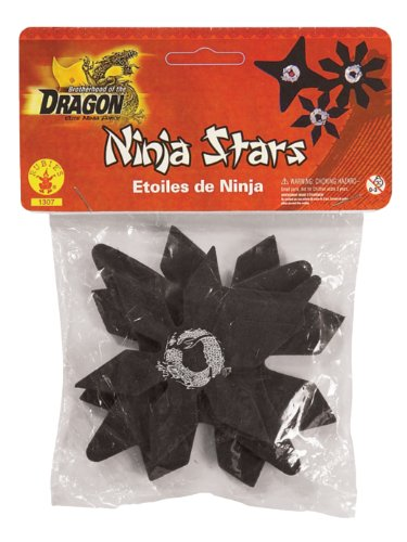 Rubie'S Brotherhood Of The Dragon Rubber Ninja Stars Costume Accessory Set Of - One Size front-541923