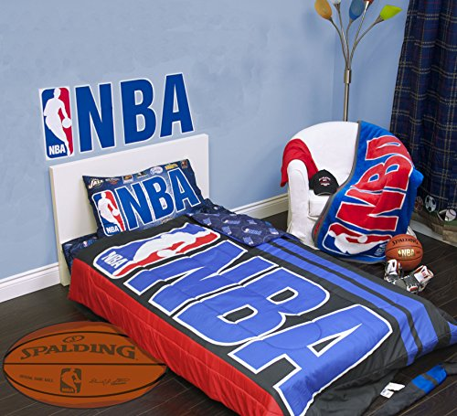 Exclusive NBA Collection 4 Pcs Twin Comforter Quilt & Sheet Set Official Licensed New (Basketball Quilt compare prices)