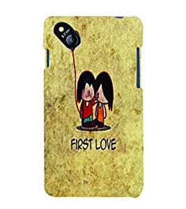 PrintVisa First Romantic Love 3D Hard Polycarbonate Designer Back Case Cover for Micromax Bolt D303