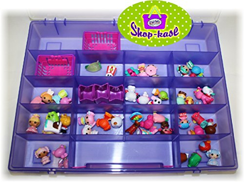 Mattys Toy Stop Mattys Toy Stop Shop Kase Shopkins Compatible Storage Container, Organizer & Carry Case Purple