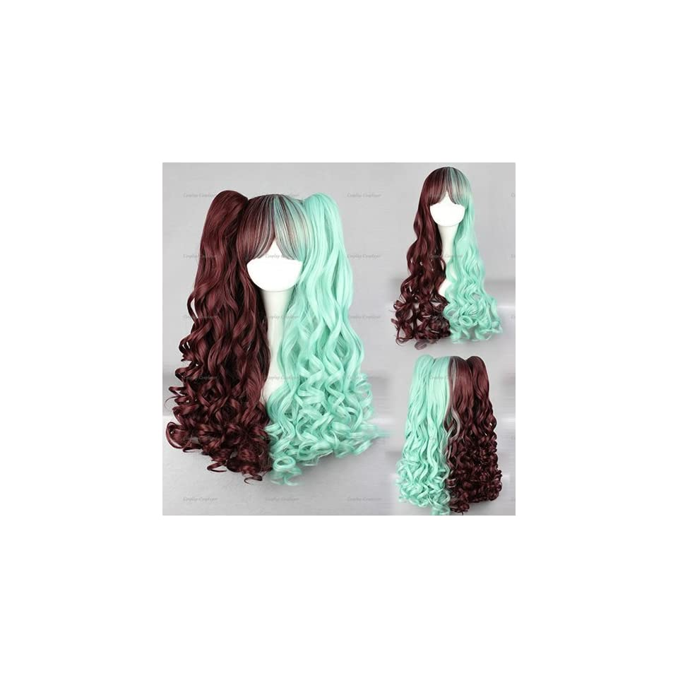 Harajuku Perruque Wig Gothic Lolita Cosplay Wigs Cheap Shipping Free Hot sales Fashion Style For Cosplay Costume 70cm + One Clip Of 60cm