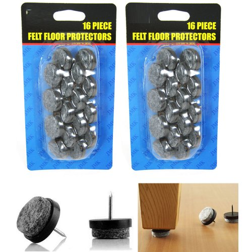 32 Pc Furniture Table Chair Leg Floor Felt Pad Skid Glide Slide Nail Protector front-1024058