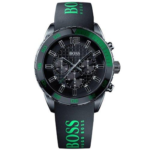 Hugo Boss  1512847 - Reloj de cuarzo para hombre, con correa de silicona, color negro