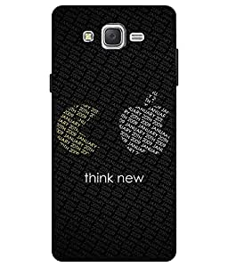 Make My Print Funny Logo Printed Black Hard Back Cover For Samsung Galaxy J2