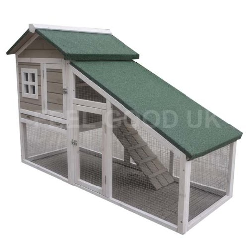 2 Storey Guinea Pig Hutch with Run Attached  150 x  66 x 100 cm