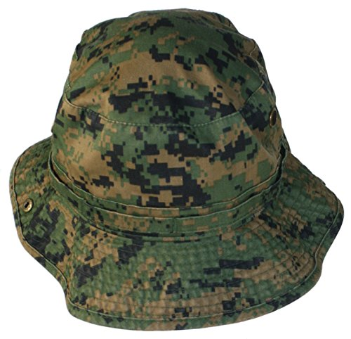 Truman & Sons - Ranger Camouflage Cloth Bucket Hat In Digital Green Camo Size Large/Xl