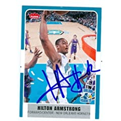 Hilton Armstrong Autographed Hand Signed Basketball Card (New Orleans Hornets) 2008...