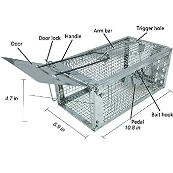 Humane Mouse Trap Live Capture Cage for Small Animals Weasel Mice Cage Catch
