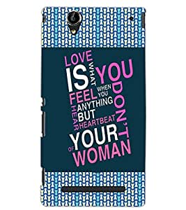 SONY XPERIA T2 ULTRA LOVE TEXT Back Cover by PRINTSWAG