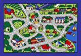 Kids Rug Street Map in Grey Area Rug 5 Ft. x 7 Ft.   Free Shipping