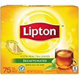 Lipton Tea, Decaffeinated 75 Count, Net Wt. 5oz (Pack of 2)