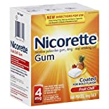 Nicorette Stop Smoking Aid, 4 mg, Gum, Fruit Chill, 160 pieces