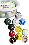 Set Of 12 Beautiful 1″ Shooter Marbles Bulk For Marble Games, Marble Painting & More: Multiple…
