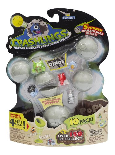 Crashlings, Series 1 Mini Figures, Dinos - 10 Pack - Random Selection - 1