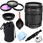 Canon EF-S 18-135mm F/3.5-5.6 IS STM Standard Zoom Lens for Canon EOS 60D, 7D, 70D, EOS Rebel SL1, T1i, T2i, T3, T3i, T4i, T5i, XS, XSi, XT, & XTi Digital SLR Cameras + Celltime 10pc Bundle Deluxe Accessory Kit