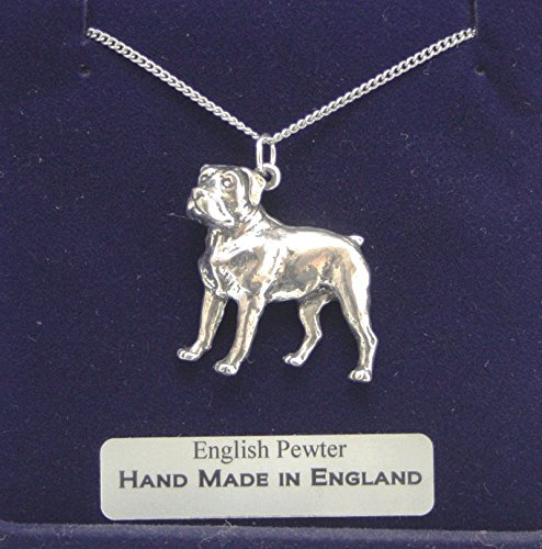 Rottweiler Dog Pendant Necklace In Fine English Pewter (Gift Boxed)