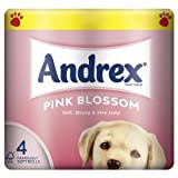 Andrex Pink Blossom Toilet Tissue 4 Rolls (Pack of 10 x 4roll)