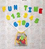 Click n' Play Bath Foam Letters and Numbers, with Mesh Bath Toys Organizer, - Sticks To Baths And Walls Tiles When Wet - 36 Count