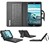 LG G Pad X8.3 keyboard case, KuGi High quality Ultra-thin Portfolio Case - Detachable Bluetooth Keyboard Stand Case / Cover for LG G Pad X 8.3 tablet.(Black)