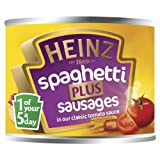 Heinz Spaghetti Plus Sausages in Classic Tomato Sauce 200 g (Pack of 24)