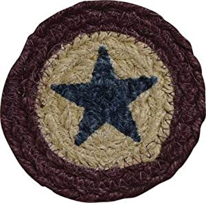 Liberty Jute Coaster Stencil Star 4""
