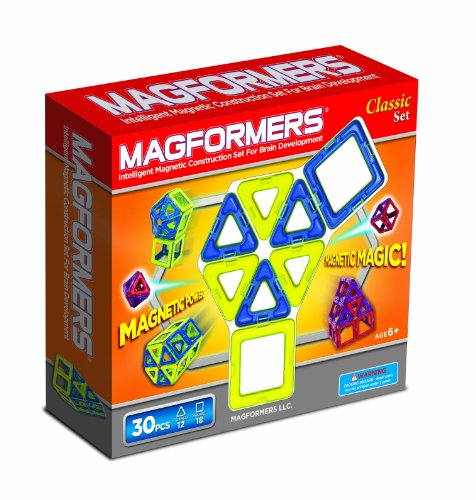 Magformers 30 Pc Magnetic Building Set (Colors May Vary)