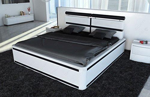 Komplett Bett VENEDIG LED + Matratze + Lattenrost