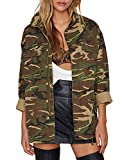 haoduoyi Womens Loose Camouflage Coats Disposition Outwear Jackets (L)