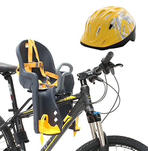 Review Of Bike Front Baby Seat Carrier with Handrail and Helmet
