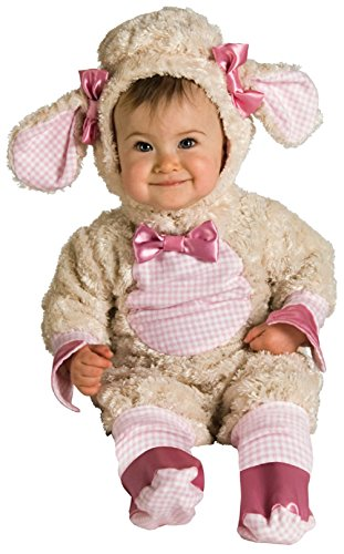 Rubie'S Costume Baby-Girls Infant Noah Ark Collection Lucky Lil Lamb Costume, Beige/Pink, Newborn front-514297